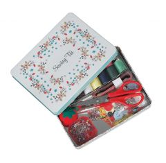 Sewing Tin Flowers by  Rex