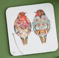 'Two Robins' Coaster