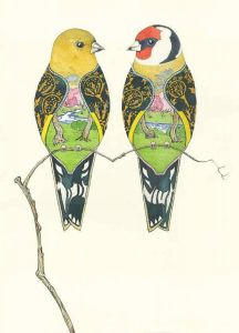 'Goldfinches' Card