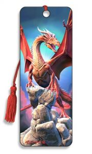 Red Dragon 3D Bookmark
