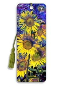 Sunflowers 3D Bookmark