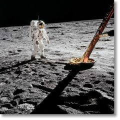 Apollo 11. Inspecting The Eagle - Signed by Buzz Aldrin