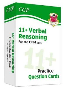 New 11+ CEM Verbal Reasoning Practice Question Cards - Ages 10-11 by CGP Books