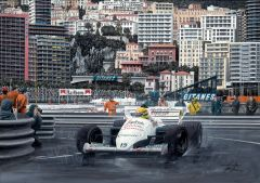 Ayrton Senna 1984 Monaco Grand Prix by David Johnson