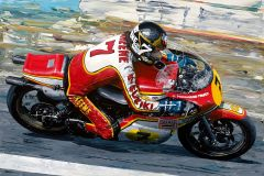 Barry Sheene 1977 Moto GP World Champion by David Johnson