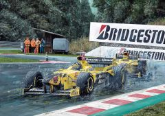 Damon Hill 1998 Belgian Grand Prix by David Johnson