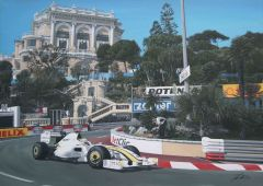 Jenson Button 2009 Monaco Grand Prix by David Johnson