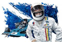 Sir Jackie Stewart 3-Time F1 World Champion by David Johnson