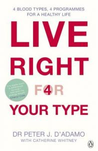 Live Right for Your Type by Peter J. D'Adamo