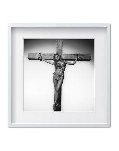 Raquel Welch on the Cross by Terry O'Neill