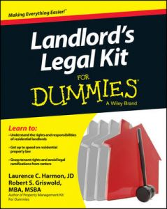Landlord's Legal Kit For Dummies by Robert S. Griswold