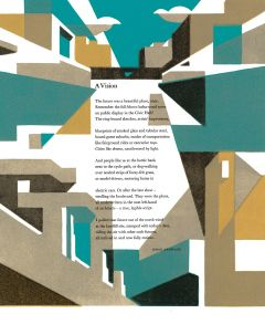 A Vision (Poetry Broadside) by Simon Armitage