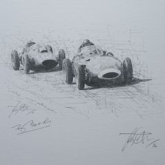 Tony Brooks - 1958 Belgian Grand Prix - Spa-Francorchamps by David Johnson